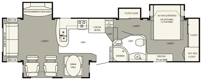 ... Selling Champagne Floor Plan. It Has A Great Living Area, Kitchen,  Entertainment/work Area And A Glide Room Hall Closet That Makes Storage A  Non Issue.